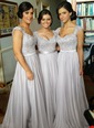 A-Line/Princess Sweetheart Floor-Length Satin Chiffon Bridesmaid Dress With Ruffle Beading Appliques Lace (0075098568)