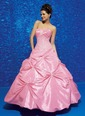 Ball-Gown Strapless Sweetheart Floor-Length Taffeta Quinceanera Dress With Ruffle Beading (02105024409)