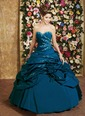 Ball-Gown Strapless Sweetheart Floor-Length Taffeta Quinceanera Dress With Ruffle Beading Flower(s) (02105024516)