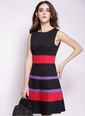 As Picture Polyester Stripe Sleeveless Above Knee Dresses (1475091164)