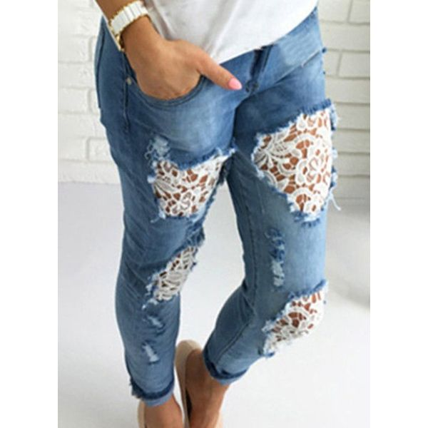Women' Skinny Jeans (1745582457, Light blue