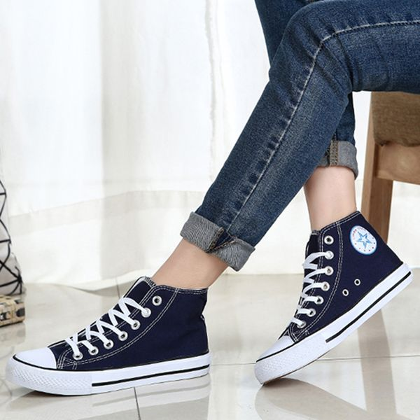 FloryDay / Women's Lace-up Round Toe Canvas Flat Heel Sneakers (1625573536)