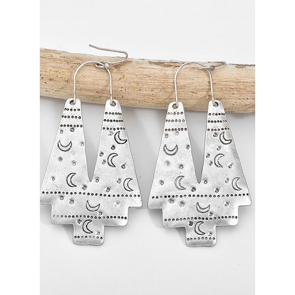 Airycloth coupon: Casual Moon No Stone Dangle Earrings (1855589752)