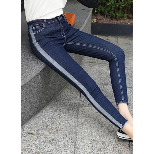 Straight Jeans Pants & Leggings (1745301448), Black;blue
