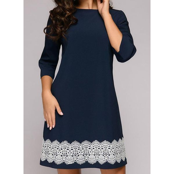 Airycloth coupon: Casual Floral Skater Round Neckline X-line Dress (1955532441)