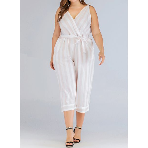 FloryDay / Plus Size Jumpsuits Women's Loose Plus Pants&Leggings (30405575771)