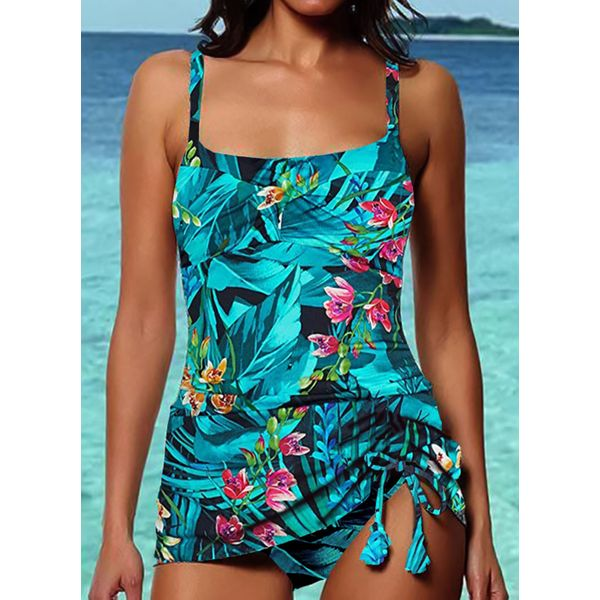 Airycloth coupon: Polyester Floral Tankinis Swimwear (30015549066)