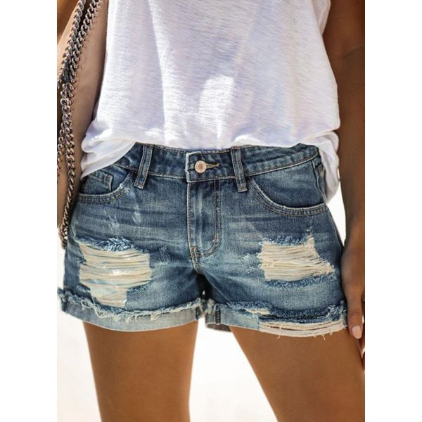 Airycloth coupon: Casual Straight Low Waist Denim Shorts Jeans (1745558302)