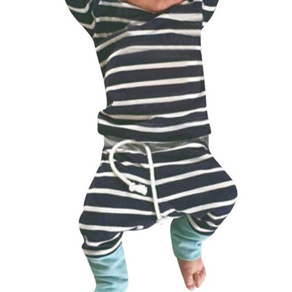 Boys' Casual Color Block Daily Long Sleeve Clothing Sets (30165429513, Black