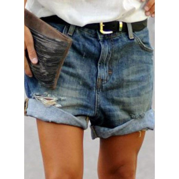 Airycloth coupon: Casual Loose High Waist Polyester Shorts Jeans Pants (1745545550)