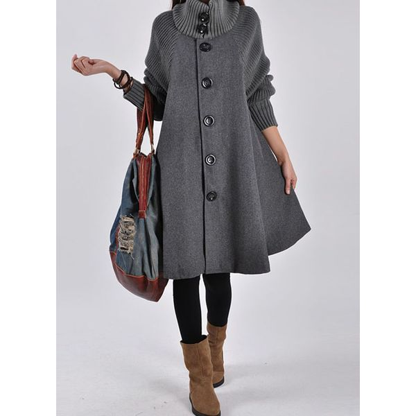 Airycloth coupon: Long Sleeve High Neckline Buttons Sweaters Coats (1715459484)