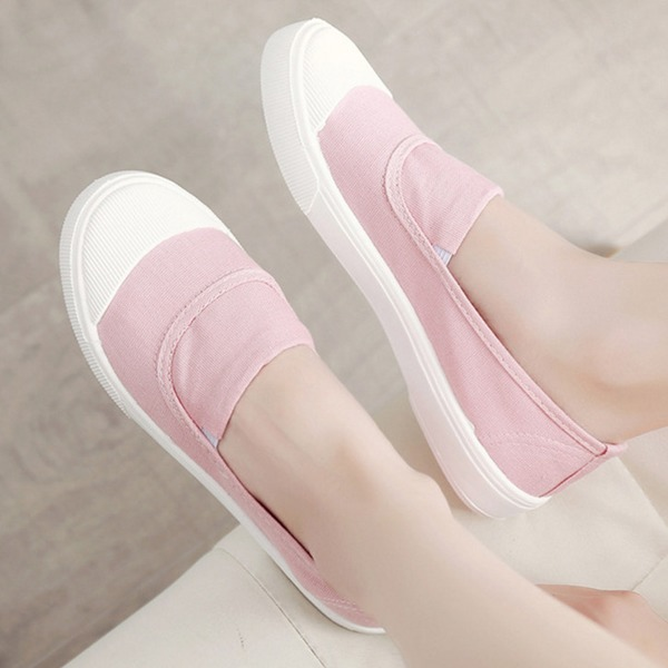 Closed Toe Flat Heel Shoes (1625315839), Black;white;pink;gray;khaki
