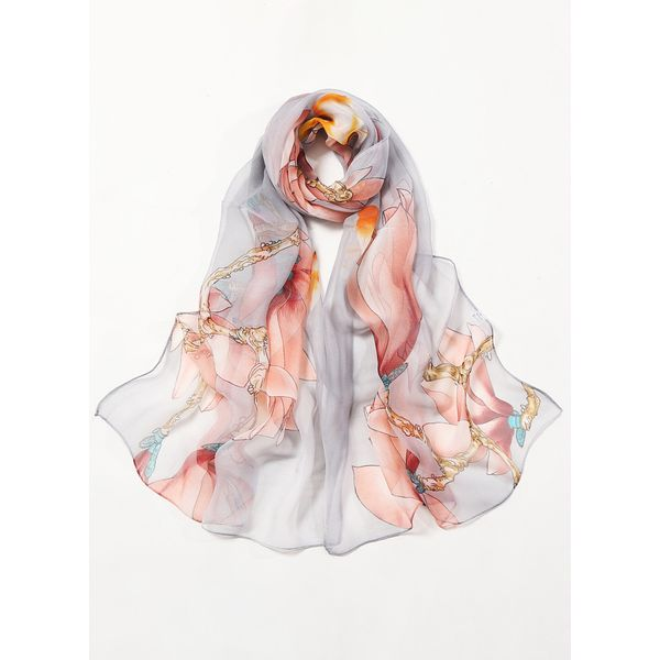 Casual Floral Scarves (1775408213, Gray