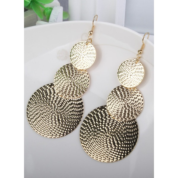 No Stone Dangle Earrings 1 pairs (1855324383, Black;gold;silver