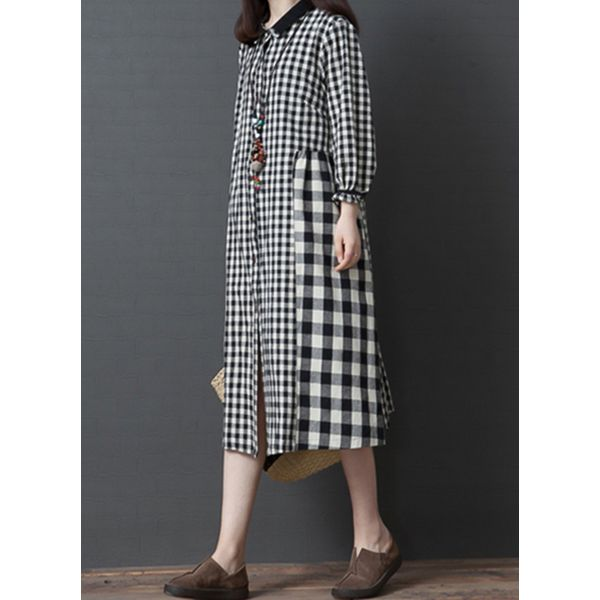 FloryDay / Color Block 3/4 Sleeves Midi Shift Dress (1955394952)