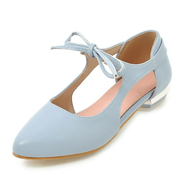 Hollow-out Pointed Toe Flat Heel Shoes (1625304985), White;pink;blue