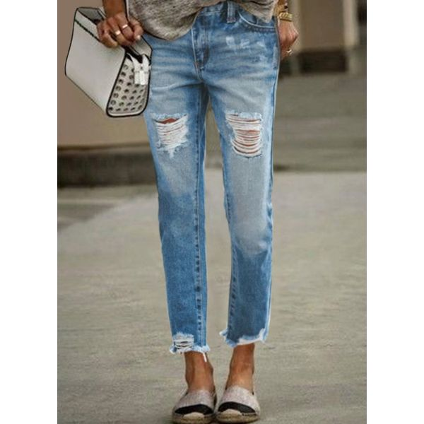 Airycloth coupon: Casual Straight Mid Waist Denim Jeans (1745588934)