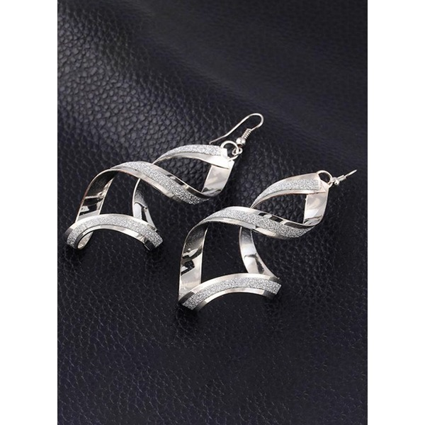 No Stone Dangle Earrings 1 pairs (1855270517, Gold;silver