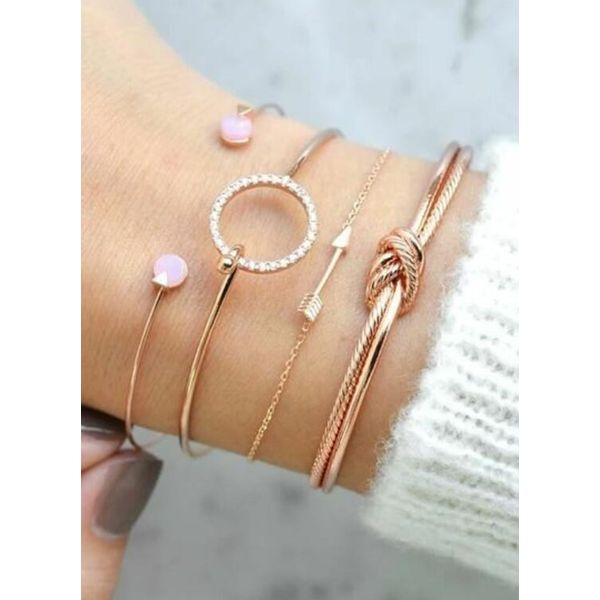 Airycloth coupon: Casual Round No Stone Bangle Bracelets (1865587900)