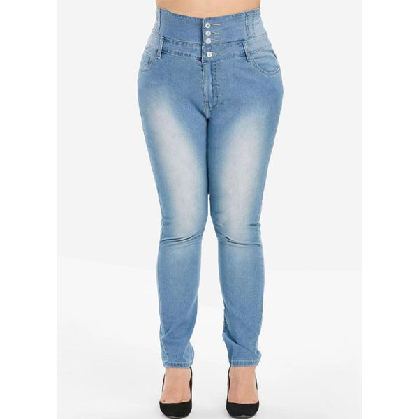 FloryDay / Plus Size Jeans Pants Women's Skinny Plus Pants&Leggings (30405563317)