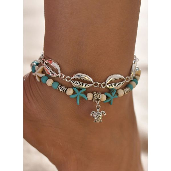 Casual No Stone Anklet (1905582054, Blue