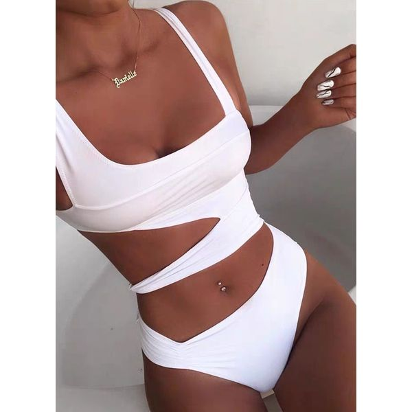 Airycloth coupon: Polyester Solid One-piece Swimwear (30015573720)