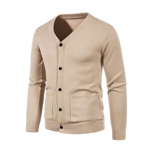 Men's Solid V-Neckline Daily Pockets Buttons Men's Sweaters & Cardigans (30595802594) - Apricot / L, FloryDay, Apparel & Accessories, Clothing, Shirts & Tops  - buy with discount