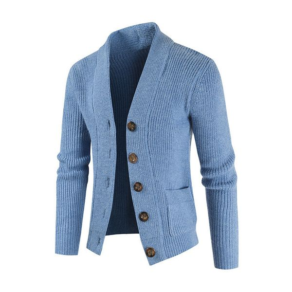 Men's Solid V-Neckline Daily Pockets Buttons Men's Sweaters & Cardigans (30595802587) - Blue / M, FloryDay, Apparel & Accessories, Clothing, Shirts & Tops  - buy with discount